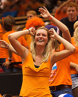 14-sept.-2013,Netherlands, Groningen,  Martini Plaza, Tennis, DavisCup Netherlands-Austria, Doubles,   Dutch supporter<br /> Photo: Henk Koster