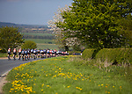 Picture by Shaun Flannery/SWpix.com - 05/05/2018 - Cycling - 2018 Tour de Yorkshire - Stage 3: Richmond to Scarborough - Yorkshire, England<br /> <br /> The peloton travels through the North Yorkshire countryside.