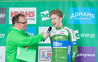 Picture by Allan McKenzie/SWpix.com - 04/09/2017 - Cycling - OVO Energy Tour of Britain - Stage 2 Kielder Water to Blyth - An Post Chain Reaction's Mark Stewart is interviewed.