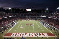 Stanford, CA - November 18, 2017: Stanford vs California football game Saturday night at Stanford Stadium.<br /> <br /> The Stanford Cardinal defeated the California Golden Bears 17 to 14.