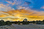 A sunset over the Colorado desert in June, 2012.
