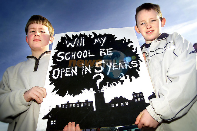Gavin Commons from Duleek and T.J. Dixon from Drogheda at the protest against incineration in Carranstown, Co. Meath..Picture: Paul Mohan/Newsfile