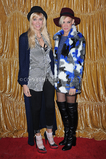 WWW.ACEPIXS.COM<br /> February 16, 2015 New York City<br /> <br /> NERVO, Olivia Nervo, Miriam Nervo at the alice + olivia by Stacey Bendet fashion presentation on February 16, 2015 in New York City. <br /> <br /> By Line: Kristin Callahan/ACE Pictures<br /> ACE Pictures, Inc.<br /> tel: 646 769 0430<br /> Email: info@acepixs.com<br /> www.acepixs.com