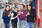 Sarah O'Brien, Ellie Lyons, Rebecca Woulfe and Éva O'Sullivan from Abbeyfeale playing in the busking competition on Friday night.