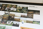 PhotoEast photography exhibition festival, Ipswich, Suffolk, England, UK 2018 display of  Border Walks images by Giuletta Verdon-Roe