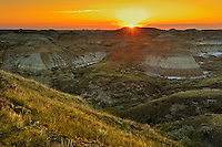 Sunrise on the badlands<br /> Dinosaur Provincial Park<br /> Alberta<br /> Canada