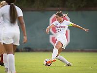 STANFORD, CA - August 30, 2019: Sam Hiatt at Maloney Field at Laird Q. Cagan Stadium. The Cardinal defeated the University of Pennsylvania Quakers 5-1.