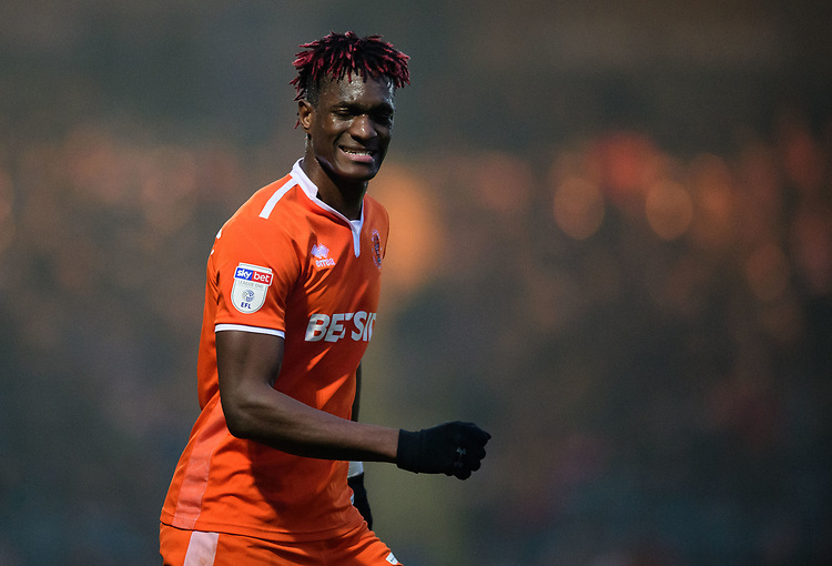 Blackpool's Armand Gnanduillet<br /> <br /> Photographer Chris Vaughan/CameraSport<br /> <br /> The EFL Sky Bet League One - Rochdale v Blackpool - Wednesday 26th December 2018 - Spotland Stadium - Rochdale<br /> <br /> World Copyright © 2018 CameraSport. All rights reserved. 43 Linden Ave. Countesthorpe. Leicester. England. LE8 5PG - Tel: +44 (0) 116 277 4147 - admin@camerasport.com - www.camerasport.com