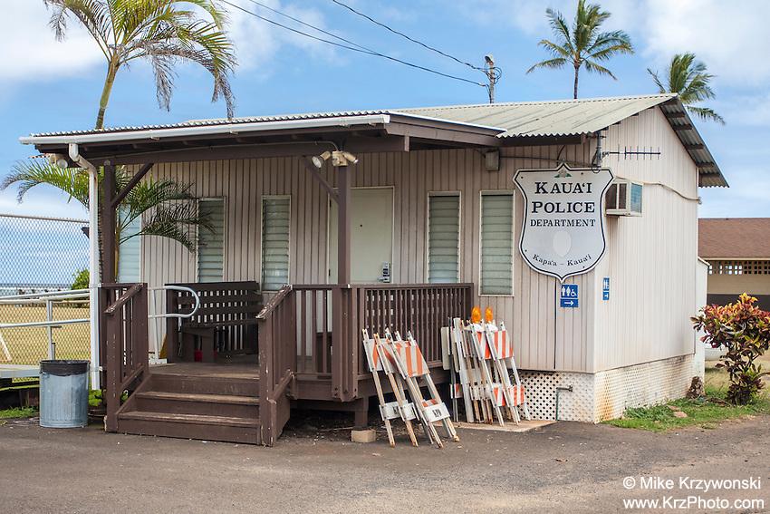 Kauai Police Dept. building, Kapa'a, Kauai, Hawaii