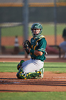 AZL Athletics Green catcher Hansen Lopez (6) during an Arizona League game against the AZL Reds on July 21, 2019 at the Cincinnati Reds Spring Training Complex in Goodyear, Arizona. The AZL Reds defeated the AZL Athletics Green 8-6. (Zachary Lucy/Four Seam Images)