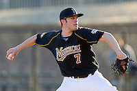 Starting pitcher Matt Stites #7 of the Missouri Tigers in action against the Charlotte 49ers at Robert and Mariam Hayes Stadium on February 25, 2011 in Charlotte, North Carolina.  Photo by Brian Westerholt / Four Seam Images