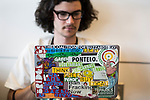 Spencer and his laptop at Powershift in Pittsburgh, PA. USA. (Photo by: Robert van Waarden)