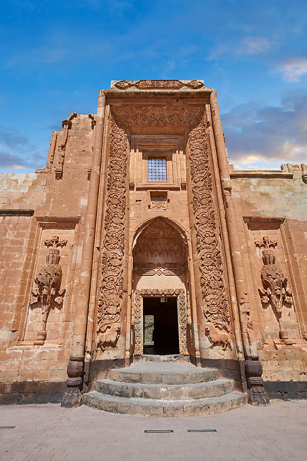 Main Hareem entrance of the 18th Century Ottoman architecture of the Ishak Pasha Palace (Turkish: İshak Paşa Sarayı) ,  Agrı province of eastern Turkey.