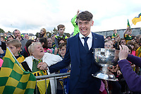 18-1-2017: Four goal hero, Team Captain and Man of the Match, David Clifford received a hero's welcome at the Kerry Minor Team homecoming on Monday evening.<br /> Photo: Don MacMonagle
