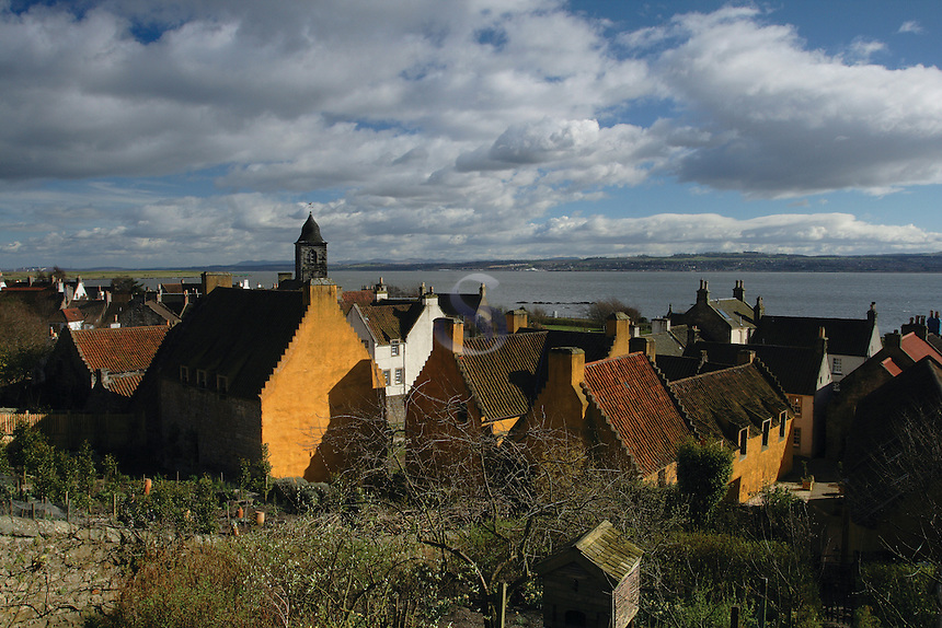 The Main historic village of Culross and the Firth of Forth, Fife<br /> <br /> Copyright www.scottishhorizons.co.uk/Keith Fergus 2011 All Rights Reserved