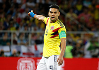 MOSCU - RUSIA, 03-07-2018: Radamel FALCAO GARCIA jugador de Colombia reacciona durante partido de octavos de final entre Colombia y Inglaterra por la Copa Mundial de la FIFA Rusia 2018 jugado en el estadio del Spartak en Moscú, Rusia. / Radamel FALCAO GARCIA player of Colombia reacts during the match between Colombia and England of the round of 16 for the FIFA World Cup Russia 2018 played at Spartak stadium in Moscow, Russia. Photo: VizzorImage / Julian Medina / Cont