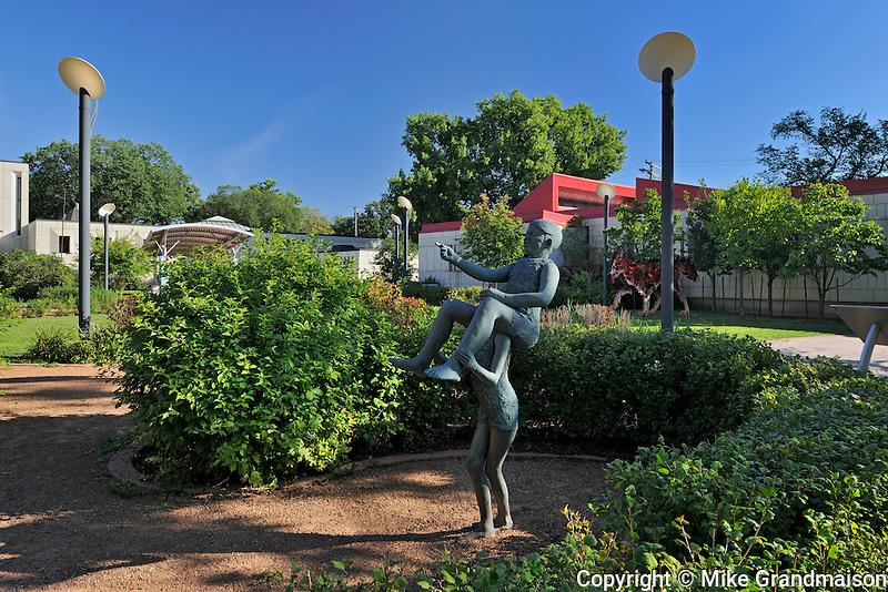 St. Boniface Sculpture Garden at St. Boniface City Hall<br /> Winnipeg<br /> Manitoba<br /> Canada