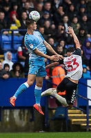 Bolton Wanderers' Eddie Brown (right) competing with Coventry City's Michael Rose <br /> <br /> Photographer Andrew Kearns/CameraSport<br /> <br /> The EFL Sky Bet Championship - Bolton Wanderers v Coventry City - Saturday 10th August 2019 - University of Bolton Stadium - Bolton<br /> <br /> World Copyright © 2019 CameraSport. All rights reserved. 43 Linden Ave. Countesthorpe. Leicester. England. LE8 5PG - Tel: +44 (0) 116 277 4147 - admin@camerasport.com - www.camerasport.com