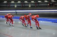 SCHAATSEN: IJSSTADION THIALF: 11-06-2013, Training zomerijs, Team Liga, ©foto Martin de Jong