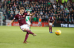 09.05.2018 Hearts v Hibs:  Harry Cochranes free-kick finds the head of Steven Naismith for Hearts second