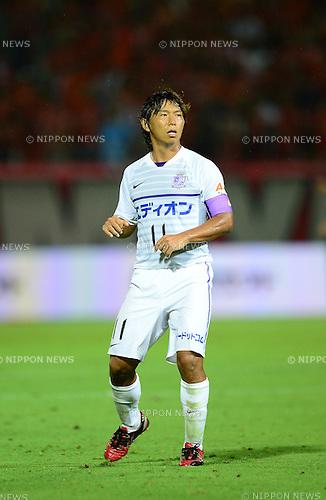 Hisato Sato (Sanfrecce),.AUGUST 11, 2012 - Football / Soccer :.2012 J.League Division 1 match between Omiya Ardija 1-2 Sanfrecce Hiroshima at NACK5 Stadium Omiya in Saitama, Japan. (Photo by AFLO)