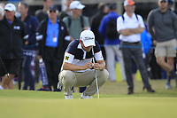 Bernd Wiesberger (AUT) on the 14th green during Round 3 of the Aberdeen Standard Investments Scottish Open 2019 at The Renaissance Club, North Berwick, Scotland on Saturday 13th July 2019.<br /> Picture:  Thos Caffrey / Golffile<br /> <br /> All photos usage must carry mandatory copyright credit (© Golffile | Thos Caffrey)