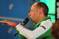 SCHAATSEN: HOOGEVEEN: Hoofdkantoor TVM verzekeringen, 18-10-2013, TVM perspresentatie, Gerard Kemkers (hoofdtrainer/coach), ©foto Martin de Jong