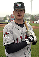 May 10, 2004:  Ryan Doumit of the Altoona Curve, Double-A affiliate of the Pittsburgh Pirates, during a game at Jerry Uht Park in Erie, PA.  Photo by:  Mike Janes/Four Seam Images