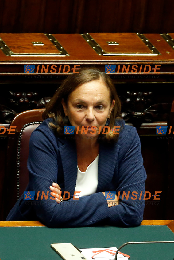 Minister of Home Affairs Luciana Lamorgese<br /> Rome September 9th 2019. Lower Chamber. Programmatic speech of the new appointed Italian Premier at the Chamber of Deputies to explain the program of the yellow-red executive. After his speech the Chamber is called to the trust vote at the new Government. <br /> Foto  Samantha Zucchi Insidefoto