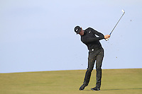 Oliver Fisher (ENG) on the 18th fairway during Round 3 of the 2015 Alfred Dunhill Links Championship at Kingsbarns in Scotland on 3/10/15.<br /> Picture: Thos Caffrey | Golffile