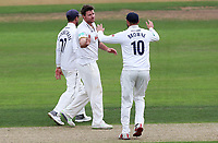 Matt Coles of Essex celebrates taking the wicket of Ben Slater during Nottinghamshire CCC vs Essex CCC, Specsavers County Championship Division 1 Cricket at Trent Bridge on 10th September 2018