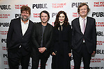"""Oskar Eustis, David Leveaux, Rachel Weisz and David Hare during the Off-Broadway Opening Night performance party for """"Plenty""""  at the Public Theatre on October 20, 2016 in New York City."""