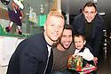 Jordan Burrow, Steve Arnold and Peter Hartley<br /> Stevenage FC players visit Lister Hospital Children's ward.  <br />  - Lister Hospital, Stevenage - 18th December, 2013<br />  &copy; Kevin Coleman 2013