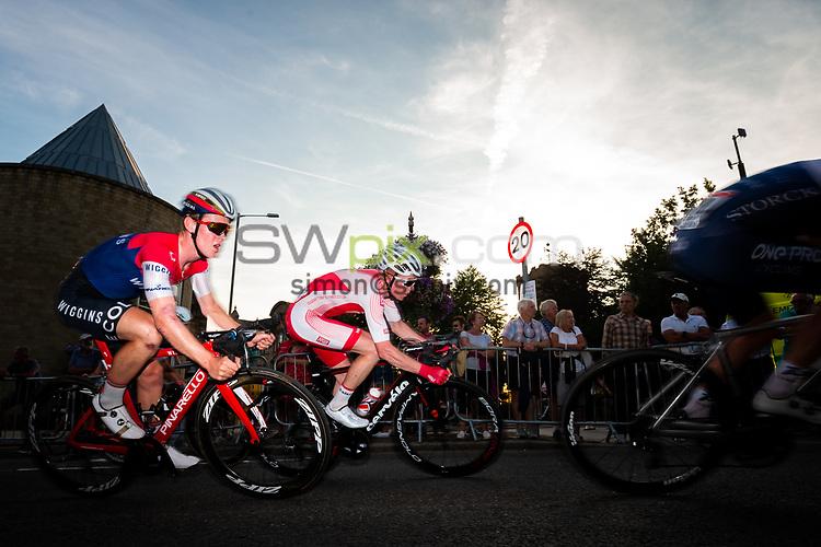 Picture by Alex Whitehead/SWpix.com - 25/07/2018 - British Cycling - HSBC UK National Circuit Series - Colne Grand Prix - Colne, Lancashire, England - Rob Scott and Matt Bostock.