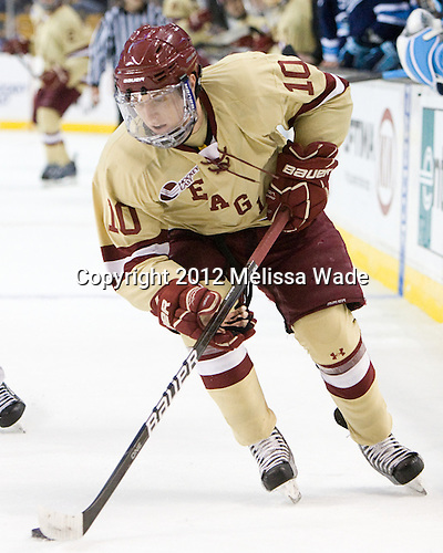 Danny Linell (BC - 10) - The Boston College Eagles defeated the University of Maine Black Bears 4-1 to win the 2012 Hockey East championship on Saturday, March 17, 2012, at TD Garden in Boston, Massachusetts.