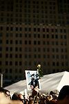Today marked the 4th anniversary of the September 11th attacks on the World Trade Center in New York and the Pentagon in Washington DC. Thousands turned out at the Ground Zero site in New York to remember those killed in the attacks. Signs depicting those killed in the attacks were held at the city sponsored memorial service.