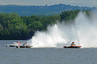 "Ken Brodie II, GP-50 ""Intensity"", Bert Henderson, GP-77 ""Steeler"", Marty Wolfe, GP-93 ""Renegade"", Grand Prix class hydroplane(s).Syracuse Hydrofest, Onondaga Lake, Syracuse, NY.20/21 June, 2009, Dayton, OH USA..©F. Peirce Williams 2009 USA.F.Peirce Williams.photography.ref: RAW (.NEF) File Available"
