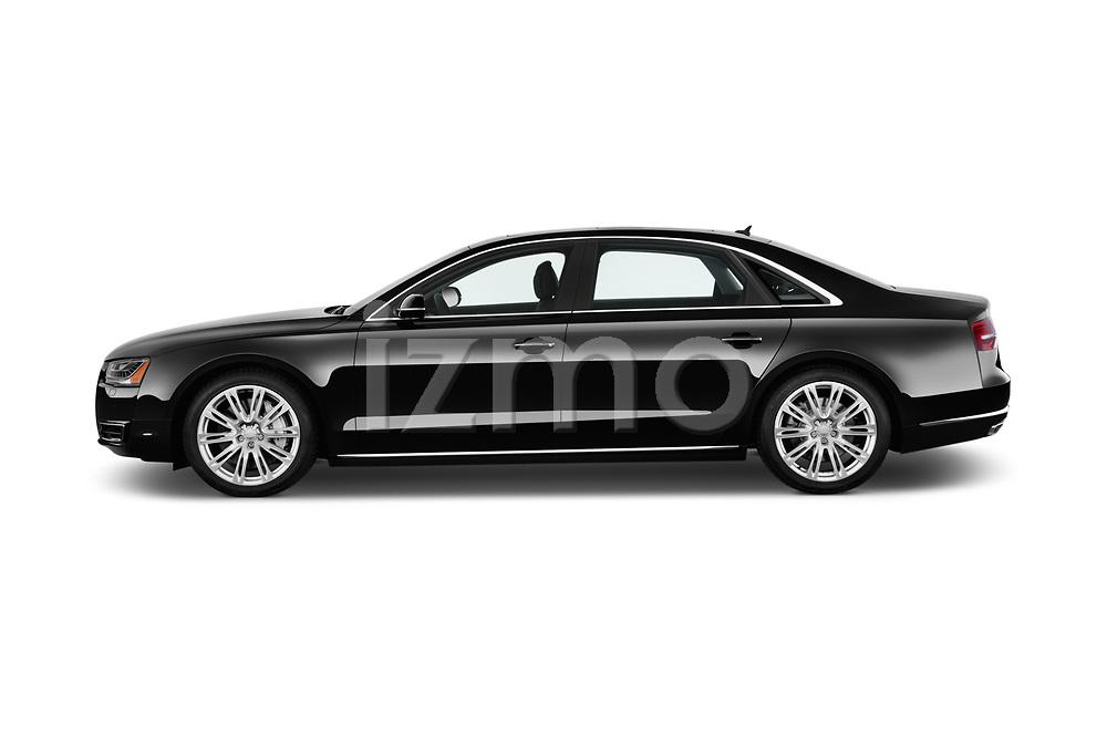 Car driver side profile view of a 2017 Audi A8 3.0T LWB quattro tiptronic 4 Door Sedan