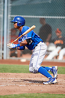 Kansas City Royals minor league outfielder Alfredo Escalera #67 during an instructional league game against the San Francisco Giants at the Giants Baseball Complex on October 18, 2012 in Scottsdale, Arizona. (Mike Janes/Four Seam Images)