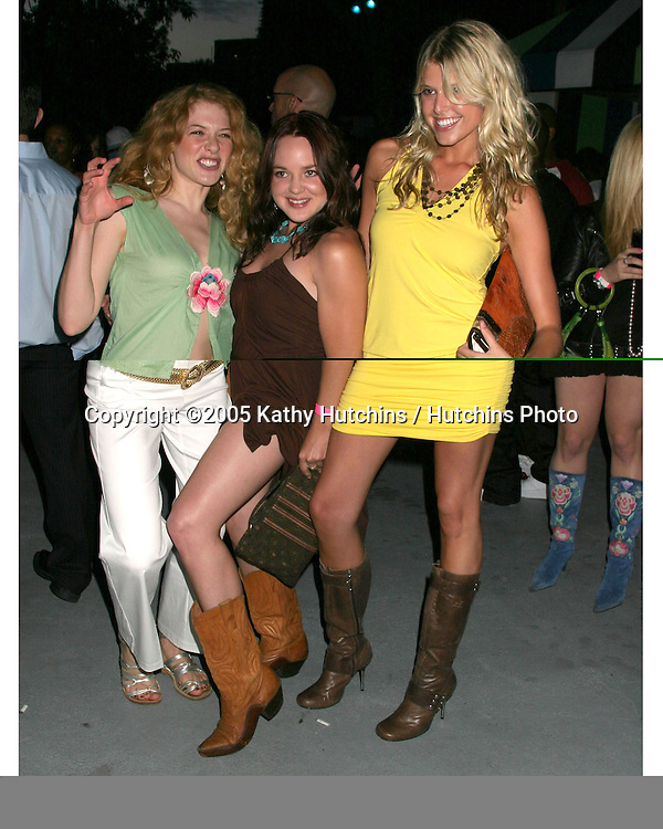 Rachel Lefevre.April Matson.Sarah Wright.WORK HARD... PLAY HARDER Lounge, .VIP party sponsored by Courvoisier.W Hotel.Westwood, CA.April 30, 2005.©2005 Kathy Hutchins / Hutchins Photo