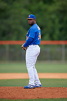 New York Mets pitcher Yeudy Colon (54) during practice before a Minor League Extended Spring Training game against the Miami Marlins on April 12, 2019 at First Data Field Complex in St. Lucie, Florida.  (Mike Janes/Four Seam Images)