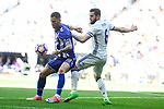 Real Madrid's Nacho Fernandez and Deportivo Alaves's Edgar Mendez during La Liga match between Real Madrid and Deportivo Alaves at Stadium Santiago Bernabeu in Madrid, Spain. April 02, 2017. (ALTERPHOTOS/BorjaB.Hojas)