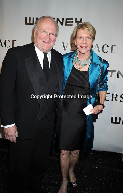 Cathie Black and hsuband.arriving at The Whitney Museum of American Art's Gala on October 20, 2008 at The Whitney Museum in New York City. ..Robin Platzer, Twin Images
