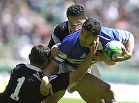 25/05/2002 (Saturday).Sport -Rugby Union - London Sevens.New Zealand vs Samoa.Faleiua Motusaga[Mandatory Credit, Peter Spurier/ Intersport Images].