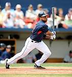 11 March 2008: Cleveland Indians' outfielder Ben Francisco at bat during a Spring Training game against the Detroit Tigers at Chain of Lakes Park, in Winter Haven Florida. The Tigers rallied to defeat the Indians 4-2 in the Grapefruit League matchup...Mandatory Photo Credit: Ed Wolfstein Photo