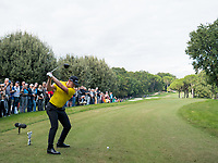 Matt Wallace (ENG) in action on the 3rd hole during the first round of the 76 Open D'Italia, Olgiata Golf Club, Rome, Rome, Italy. 10/10/19.<br /> Picture Stefano Di Maria / Golffile.ie<br /> <br /> All photo usage must carry mandatory copyright credit (© Golffile | Stefano Di Maria)