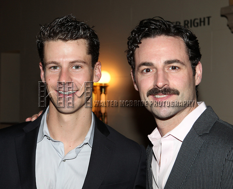 Luke Hawkins & Max von Essen.attending the reception for the final performance of the New York City Center ENCORES! Production of 'Gentlemen Prefers Blondes' at City Center in New York City on 5/13/2012.