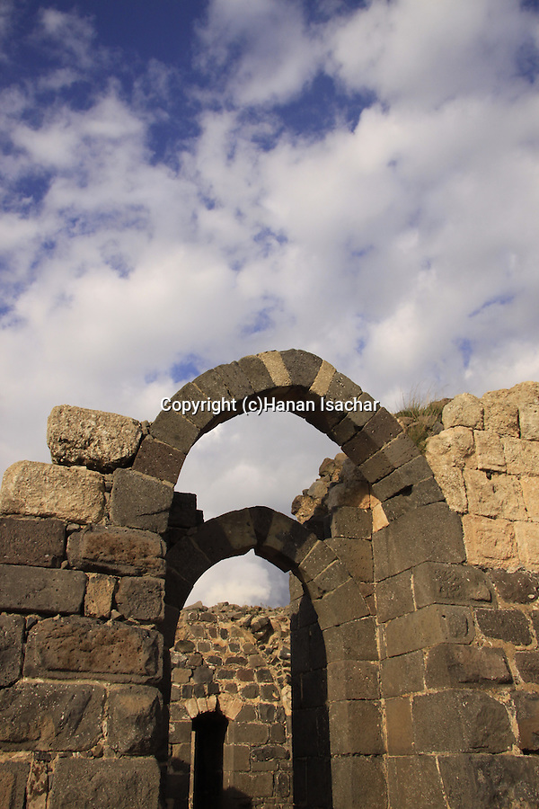 Israel, Lower Galilee, Crusader fortress Belvoir