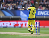June 10th 2017, Edgbaston, Birmingham, England;  ICC Champions Trophy Cricket, England versus Australia; Aaron Finch of Australia prepares to pull the ball
