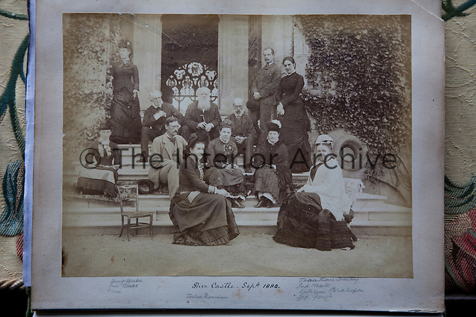 The Parsons family gathered on the steps of Birr Castle